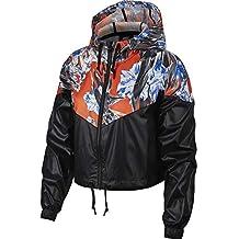 d8024121a07c Nike Veste Coupe Vent Sportswear Hyp FM Cropped Windrunner Noir M (Medium)
