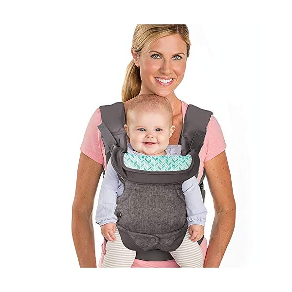 Infantino Flip Advanced 4-in-1 Convertible Baby Carrier, Light Grey Infantino Fully safety tested Carry children from 3.6-14.5 kgs 3
