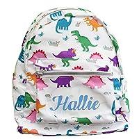 Personalised Dinosaurs Kids Rucksack Backpack Cute Pink Gift Idea School College Student