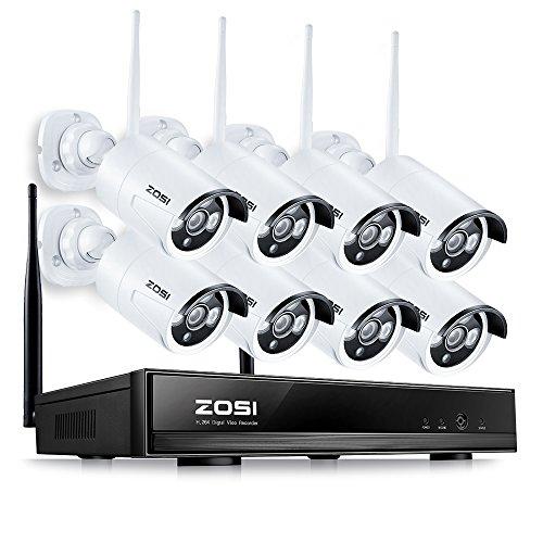 8CH 960P HD NVR Tag Nacht Funk Überwachungskamera Set ohne Festplatte CCTV Wireless Outdoor IP Netzwerk Video Überwachungsstem, 3.6mm Linse
