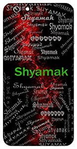 Shyamak (Lord Krishna) Name & Sign Printed All over customize & Personalized!! Protective back cover for your Smart Phone : Moto E-2 ( 2nd Gen )