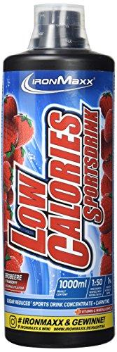 Ironmaxx Low Calories Sportsdrink Erdbeere, 1er Pack (1 x 1 l)
