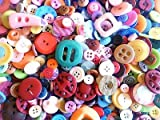 ASVP Shop Mixed Assorted 50g Buttons, Mixed Colours Shapes Sizes Art Craft Sewing Scrapbook Card Making