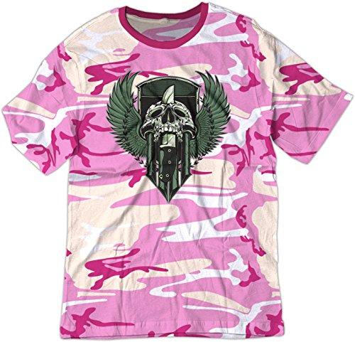 BSW  Herren T-Shirt Gr. X-Small, Pink Camo (Crest Womens Pink T-shirt)