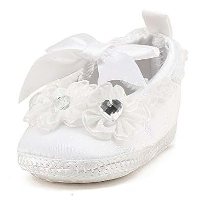 delebao blanc chaussure bebe fille bapt me pantoufle b b. Black Bedroom Furniture Sets. Home Design Ideas