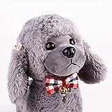 KDSANSO Weich und bequem Hundehalsband mit Niedlichen Bogen Hundehalsband Glocke PU-Material Sicherheit und Komfort für Haustiere # 7 22-36cm