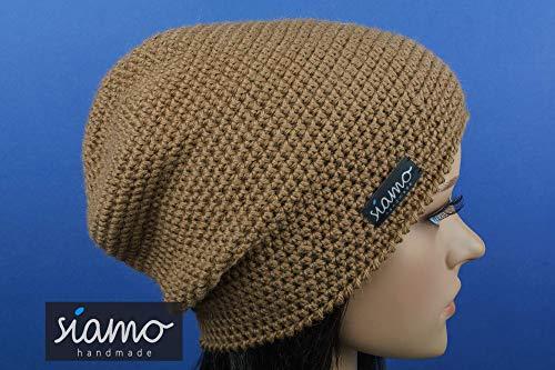Unisex Beanie ICA camel 100% Baby-Alpaka Luxus Mütze siamo-handmade -