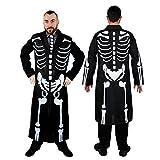 Déguisement pour adulte du plus secret des agents avec ce long manteau noir avec motif de squelette + une cravate assorti. Idéal pour les fêtes d'Halloween. ( XLarge )