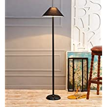Black Cotton Stick Floor Lamp /Standing Lamp By New Era For Living Room /Drawing Room/Office/Bedroom/Decoration /Corner/Gift/Lobby