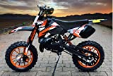 Dirtbike Coyote 49cc 10' Crossbike Pocket Minicross Motorcross Orange