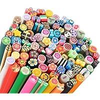 100 unidades varillas/cañas de fimo nail art DIY 3D - decoración , arcilla de color by DURSHANI