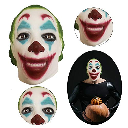 zhaokai Latex Maske Cosplay Scary Pennywise Clown Maske Halloween Kostüm Creepy Party Horror Requisiten (Creepy Clown Kostüm)
