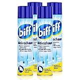 biff Aktivschaum Badreiniger 600ml - Reinigt mit selbstaktivem Schaum (4er Pack)