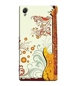 Fuson Designer Back Case Cover for Sony Xperia Z3+ :: Sony Xperia Z3 Plus :: Sony Xperia Z3+ dual :: Sony Xperia Z3 Plus E6533 E6553 :: Sony Xperia Z4 (Designer Guitar pattern)