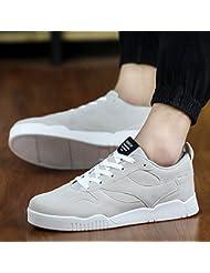 WZX Nueva tendencia de moda de corte bajo de estudiantes zapatos deportes zapatos hombres zapatos nubuck cuero Skate suela gruesa , 288 blue , 43