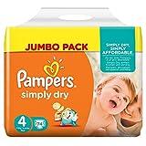 Pampers Simply Dry, 148 Pannolini, Taglia 4 (7-18 kg), 2 confezioni da 74 - Pampers - amazon.it