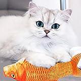 Sansee Katzenspielzeug Rote Karpfen Haustier Katze Kätzchen Fisch Form Spielzeug Interaktive Katzen Kauen Spielzeug Hundspielzeug (S)