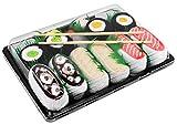 Sushi Socken 5 Paar Lachs Butterfisch Tintenfisch braun Gurke Maki, Maki Oshinko EU 41-46 in Europa hergestellt ideal als Geschenk! Originelle Socken bester Qualität mit Öko-Tex-Zertifikat