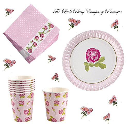 VintageRose Afternoon Tea Party Kit für 16