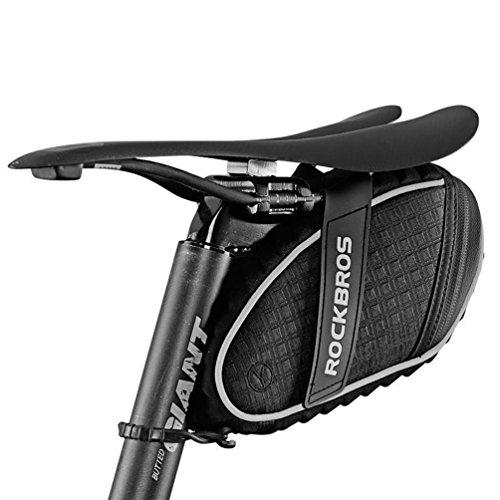 RockBros Fahrradsatteltaschen Satteltaschen Sitztaschen Wasserfest beim Leichten Regen (Schwarz)