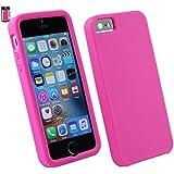 Emartbuy® Apple iPhone SE Silikon Haut Kasten Abdeckung Hot Rosa