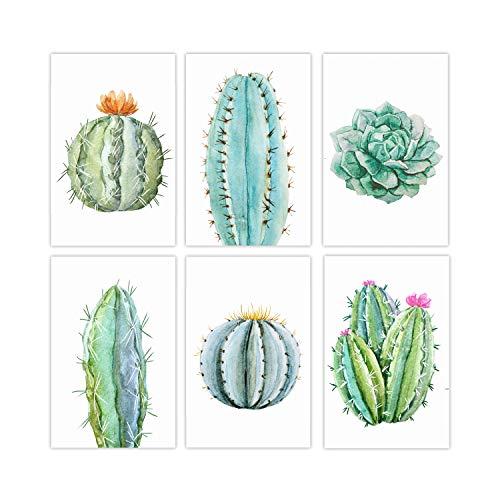 Set of 6, 11x17 Cactus Wall Deco...
