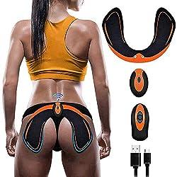 Elektrischer Hip Trainer EMS Muskelstimulator Kabellose Fernbedienung Pobacken Muskel-Toner, USB-Lade Smart Tragbar Unisex Hip Massage
