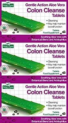 Aloe Pura Aloe Vera Colon Cleanse Gentle Action 60 Tablets x 6 Packs by ALOE PURA