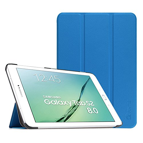 Fintie Samsung Galaxy Tab S2 8.0 Custodia - Ultra Sottile Di Peso Leggero Tri-Fold Smart Case Cover Sleeve Con Funzione Sleep/Wake per Samsung Galaxy Tab S2 8.0' (8 pollici) Tablet, Blu reale