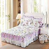 Best Linen Store Bed Skirts - Wddwarmhome Light Purple Flower Pattern Bedspreads Cotton Single Review