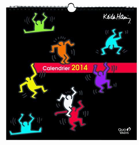 Quo Vadis - Keith Haring - Calendrier Feuilles - Agenda Civil 30x30 cm - Année 2014