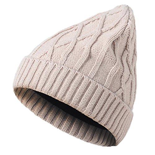 Youson Girl® Unisex Wintermütze Strickmütze Mädchen Mode Slouchy Beanie Ski Berets Hut Mode Hip-Hop Caps (beige) (Knit Slouchy Beret)