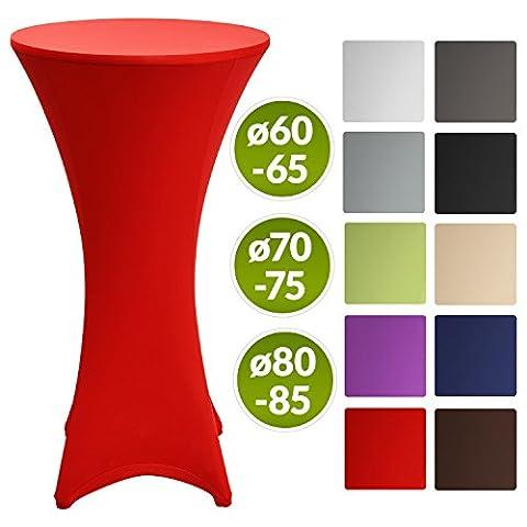 Beautissu Stretch Cover Stella Spandex Poseur Table Cocktail Tablecloth Ø 80-85 cm Event Decoration -