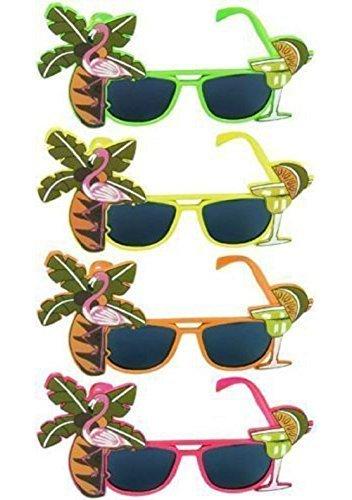 Sonnenbrille Mit Tropischen Farben Für Kostüm Hawaii (Kostüme Themen Tier Dschungel)