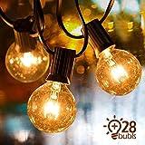 IREGRO Guirlande Lumineuse G40 Lampes Cordes 25 Ampoule 9.5 M Etanche Décoratif S'Allume pour l'Indoor, Outdoor, Chambre, Patio, Mariage, Fête, Décorations de Noël
