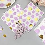 Papiertütchen Punkte lila gold 16,5 x 13 cm 25 Stück - Geschenktütchen Hochzeit Candy Bags Kindergeburtstag Mitgebsel Paper Bags Candy Bar Bonbontütchen Süßigkeiten-Tütchen Dots lila gold