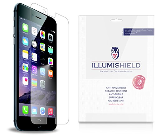 iLLumiShield - Apple iPhone 6 Screen Protector Japanese Ultra Clear HD Film with Anti-Bubble and Anti-Fingerprint - High Quality (Invisible) LCD Shield - Lifetime Replacement Warranty - [3-Pack] OEM / Retail Packaging