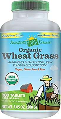 Amazing Grass Organic Wheat Grass Tablets, 200-Count Bottle from Amazing Grass
