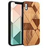 kwmobile Coque Apple iPhone XS Max - Étui de Protection Rigide en Bois pour Apple iPhone XS Max - Marron-Brun foncé
