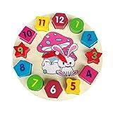STOBOK Horloge de Tri Bois Lapin Forme de Jouet en Bois avec Chiffres et Forme pour Enfant
