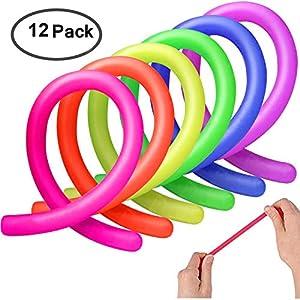 Colorful Juguetes de Estiramiento Sensorial Fidget Ayuda a Reducir la Inquietud Debida al Estrés y la Ansiedad por ADD, ADHD, Autismo (12 Pack) de AmeiTech
