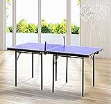Homcom –Tavolino da Ping Pong Pieghevole in Legno MDF 153 x...