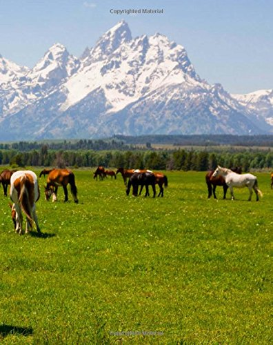 Grand Teton National Park Horses: Artified Pets Journal/Notebook/Diary with Wrap Around Cover Image (Artified Pets/Horse) (Pet-wrap)