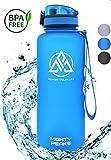 MIGHTY PEAKS Tritan Sport-Trinkflasche 1.5 Liter | BPA frei | 1500ml 1 5 Liter 1,5 Liter | Wasserflasche 1,5 Liter | Blau, Blue | Ideale Sportflasche für Fahrrad, Fitness, Fussball, Kinder, Sport