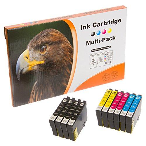 10 komp. XL Druckerpatronen für Epson Expression Home XP 235 247 332 335 342 345 432 435 442 Epson 29XL ( 4 x schwarz 2 x blau 2 x rot 2 x gelb )