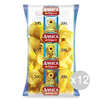 Set 12 AMICA Potato Chips 200 Gr Classic Snack And Salty Snacks