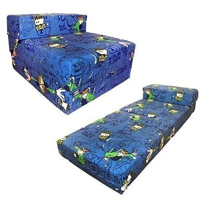 Shopisfy - Sofá cama Z para niños con diseño de personajes, Ben 10