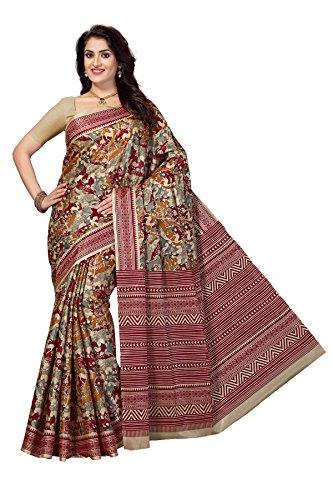 Rani Saahiba Women\'s Art Silk Printed Saree ( Skr3253_Multi Color )
