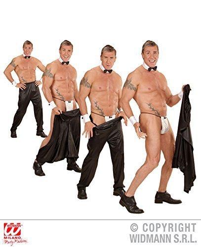 Widmann wdm80966-Kostüm für Erwachsene Hose/Tasse mit Klettverschluss, schwarz, XL -