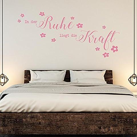 Sticker mural–Citation La Force tranquille–Fleurs, Panther Rose, 223 x 100 cm